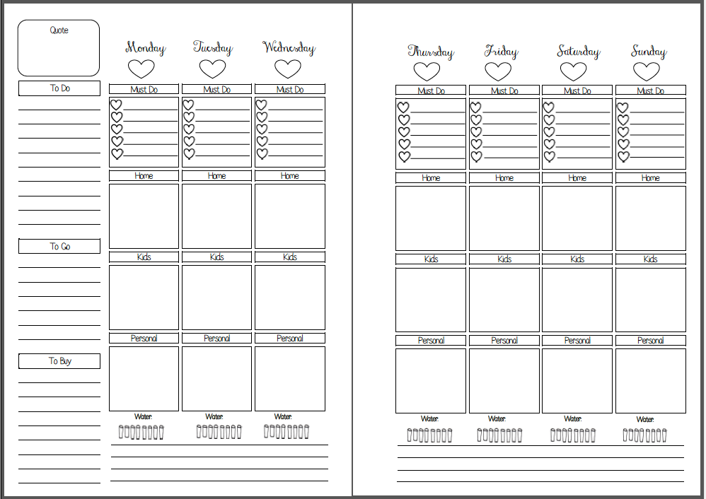 Bewitching image pertaining to free planner refills printable