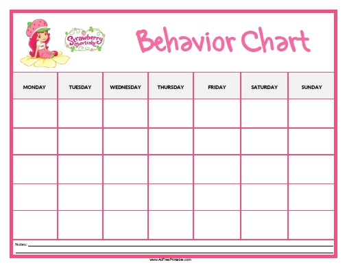 Free Printable Behavior Chart | Raising an Anomaly