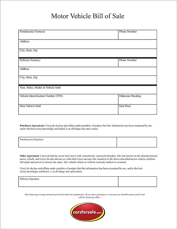 picture relating to Printable Bill of Sale Nj identified as Totally free Printable Invoice Of Sale For Car or truck area