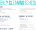 free printable cleaning schedule printable cleaning schedule