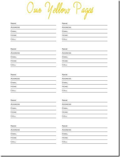 free printable templates phone numbers | free printable, contact
