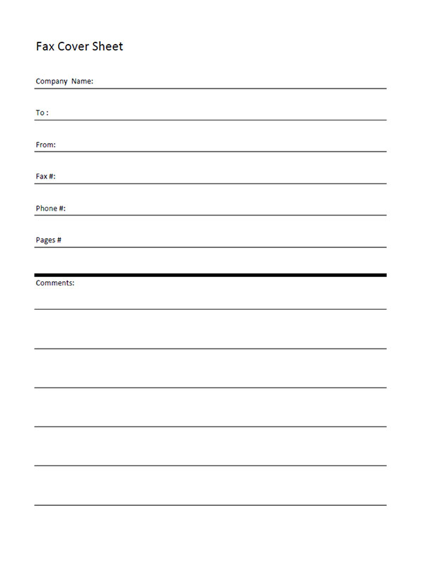 Free Printable Fax Cover Letter | business stuff | Pinterest