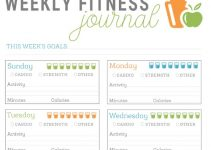 photo about Printable Fitness Journals named Absolutely free Printable Health and fitness Magazine place