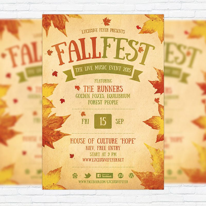 Fall Festival Flyer Template Printable Flyers In Word Fall Fall