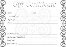 free printable gift cards free gift certificates printable