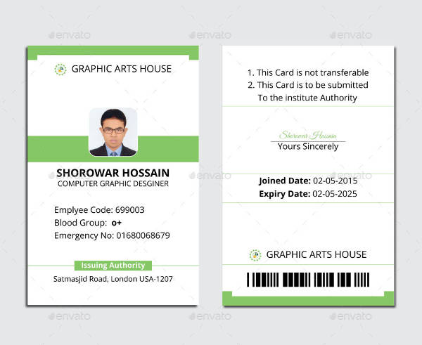 Free Printable Id Card Template Room Surf Com