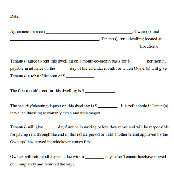 free fill in the blank lease agreement printable rental agreement