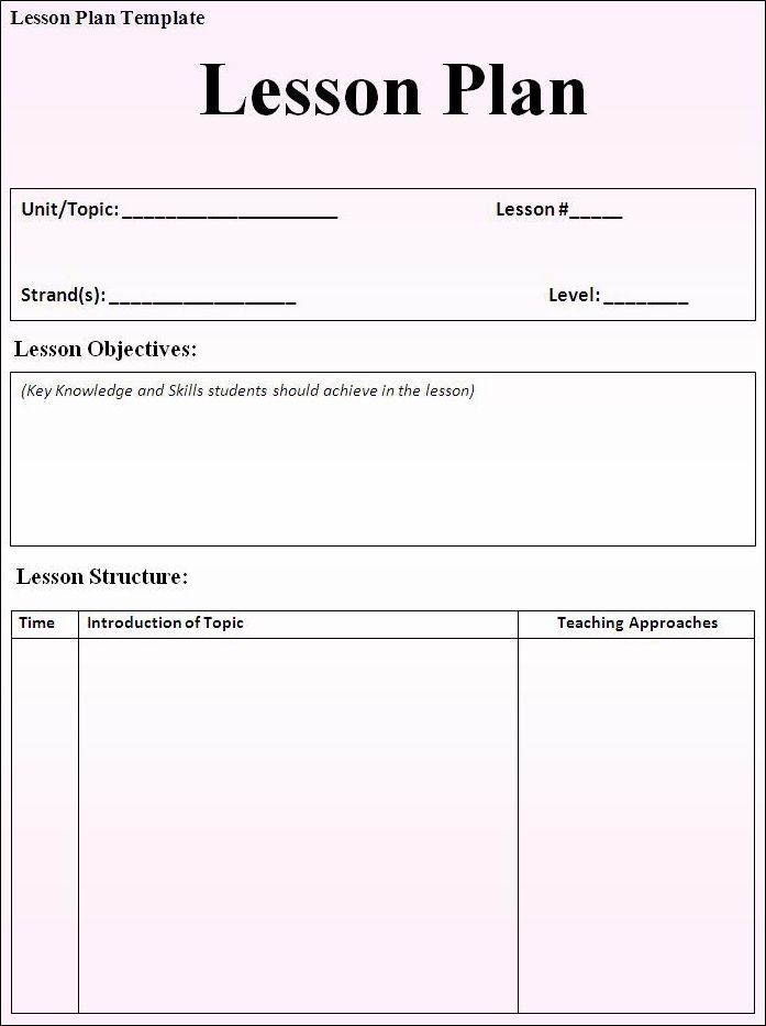 photograph about Free Printable Lesson Plans Template known as Absolutely free Printable Lesson System Template house