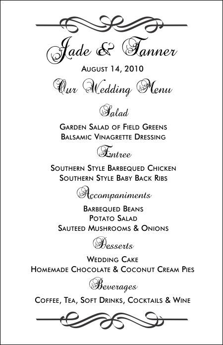 Free Printable Menu Templates and more! | I'M GETTING MARRIED