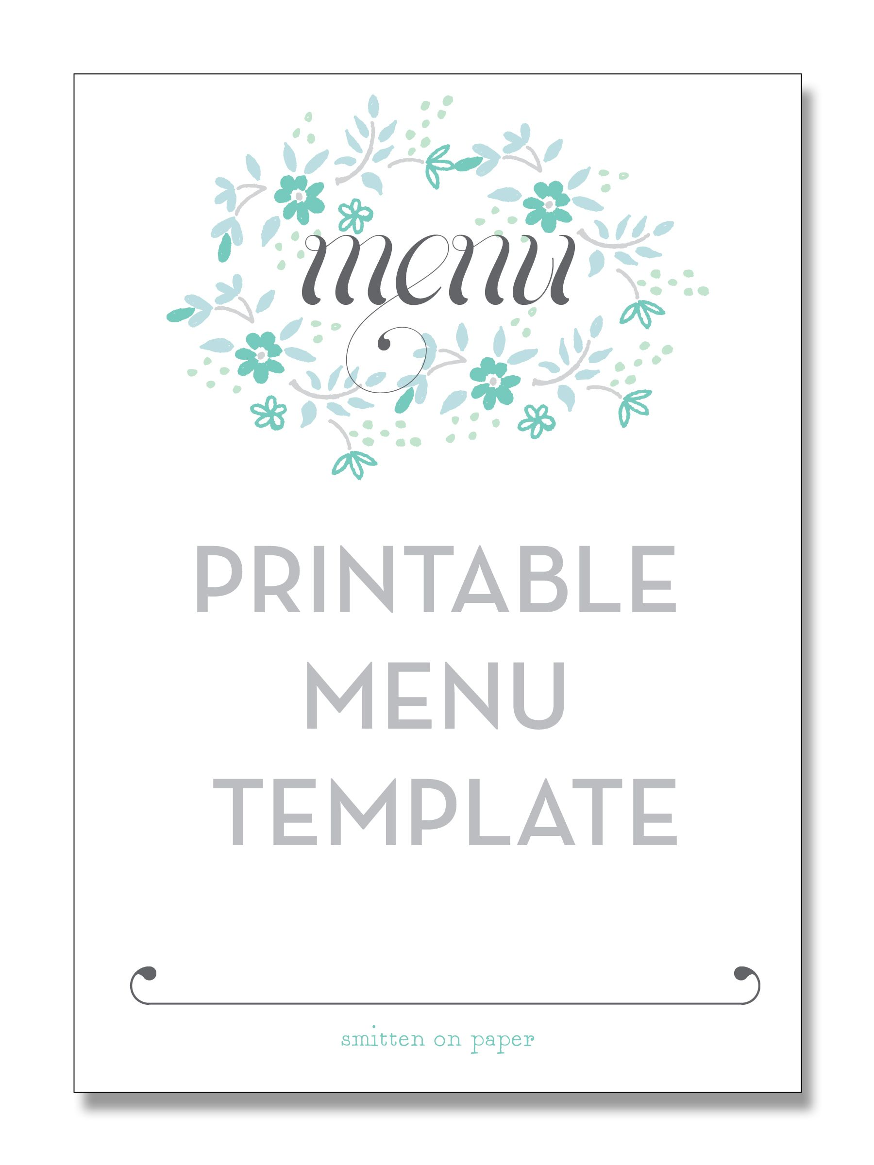 Freebie Friday: Printable Menu | Bbq | Pinterest | Printable menu