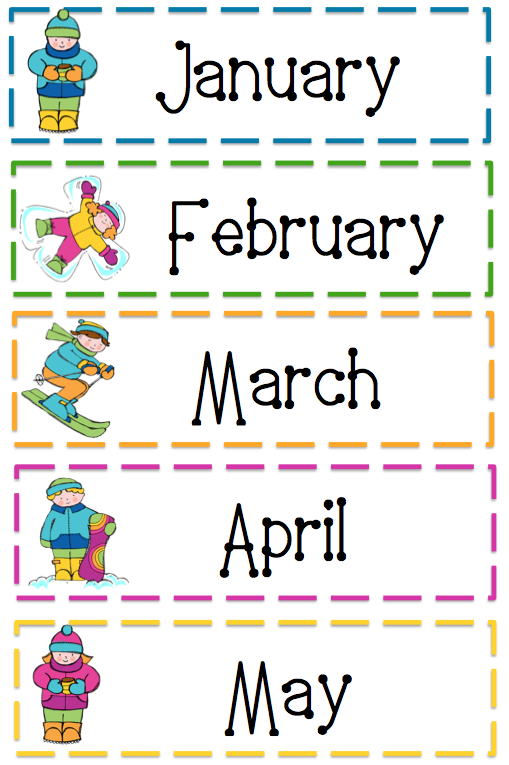 Free+Printable+Months+of+the+Year+Cards | resources | Pinterest