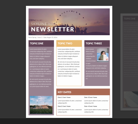 15 Free Microsoft Word Newsletter Templates for Teachers & School