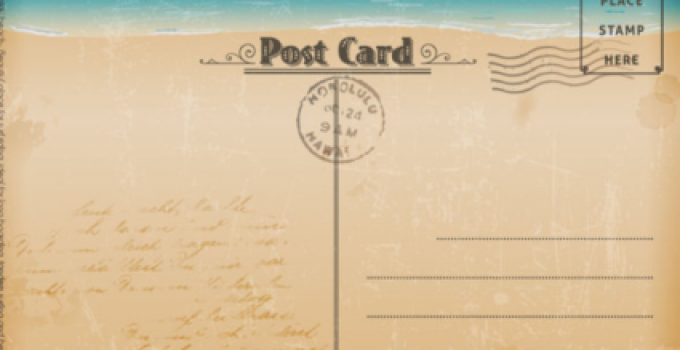 image about Free Printable Postcards referred to as Totally free Printable Postcard Template place