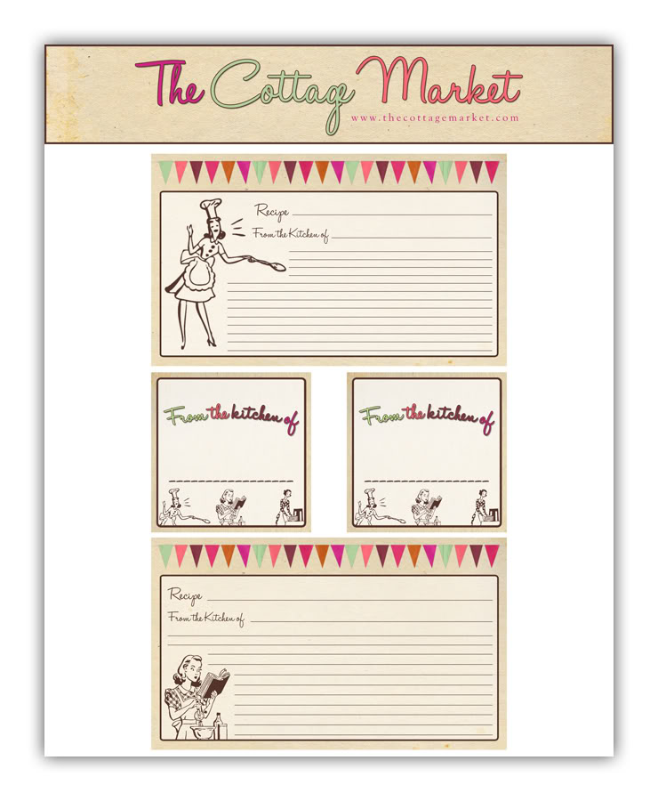Free Printable Recipe Cards and more Part 2 & Thankful Thursday