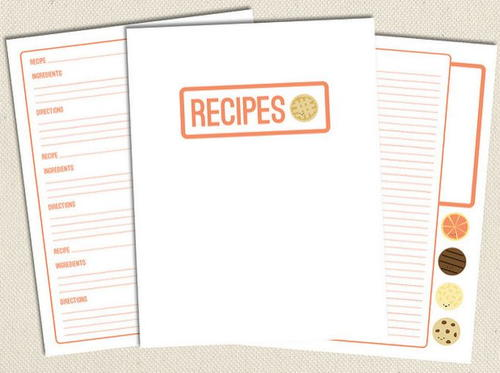 Sweet Free Printable Recipe Pages | AllFreePaperCrafts.com