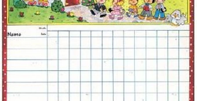 photo relating to Sunday School Attendance Chart Free Printable known as house  Free of charge Small business Template