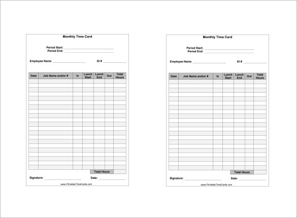 Free Timecard Template from uroomsurf.com
