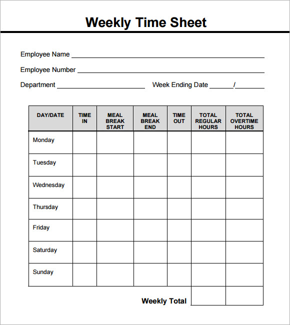 weekly time sheets pdf   Yelom.agdiffusion.com