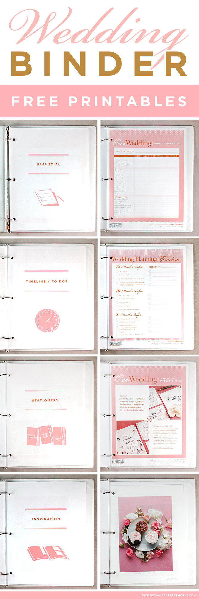 free printables} Wedding Planning Binder | Blog | Botanical PaperWorks