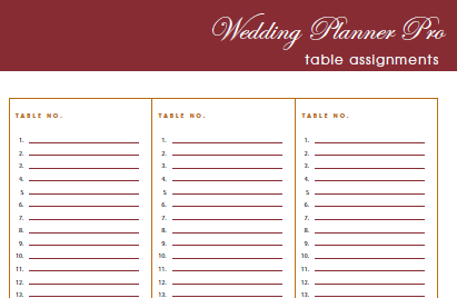 DIY Free Wedding Planner Pro fillable PDF | Worldlabel Blog