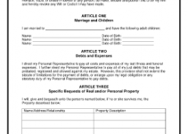 free printable will forms printable last will and testament form 401286