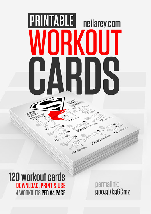 FREE Printable Workout Cards Download, print and use. 120 visual