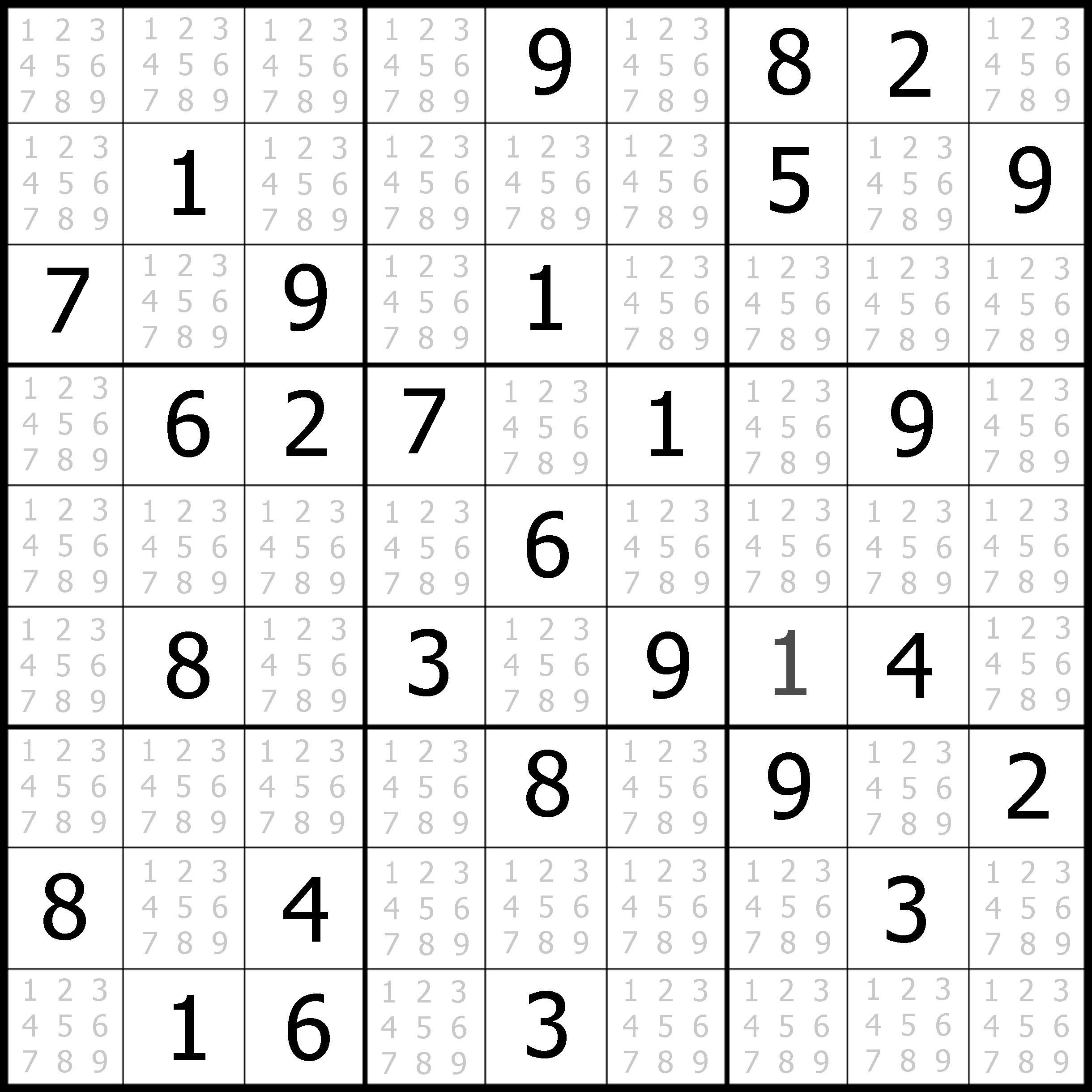image about Printable Sudoku Grid identify Free of charge Sudoku Printable space