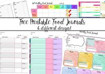 journal printable food journals small title