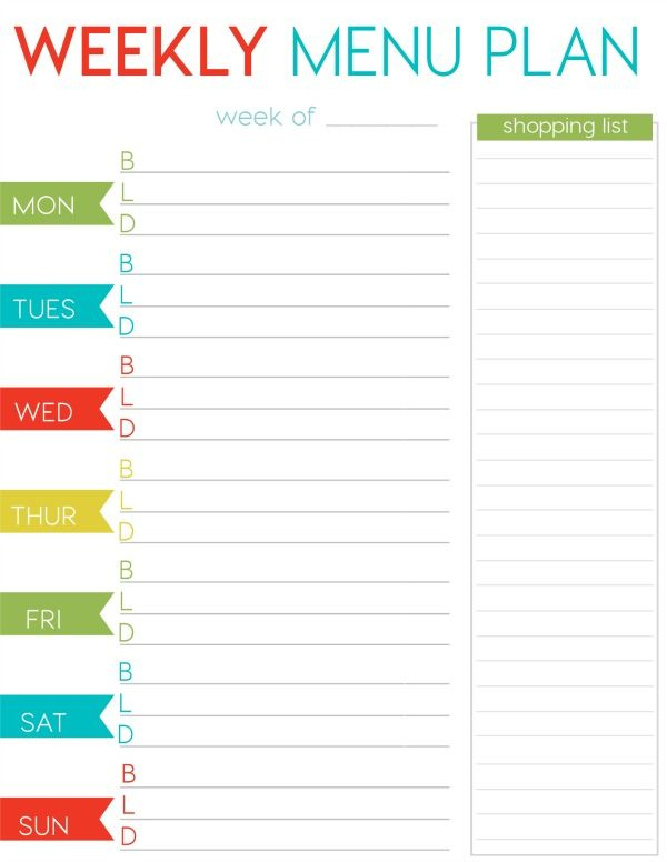 FREE Weekly Menu Planner Printable | Foodie Call!! | Pinterest