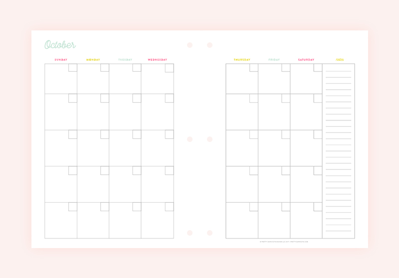 Pretty Printable Planner™ • Pretty Darn Cute Design
