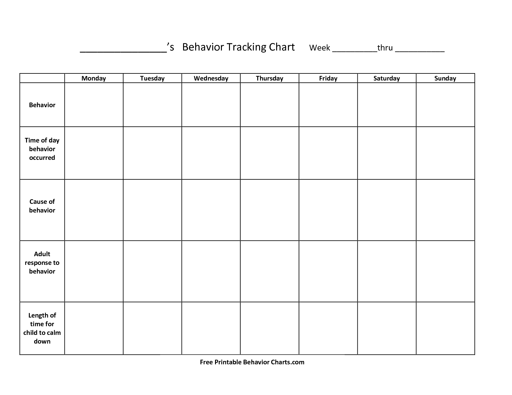 behavior charts for adhd   Keni.ganamas.co