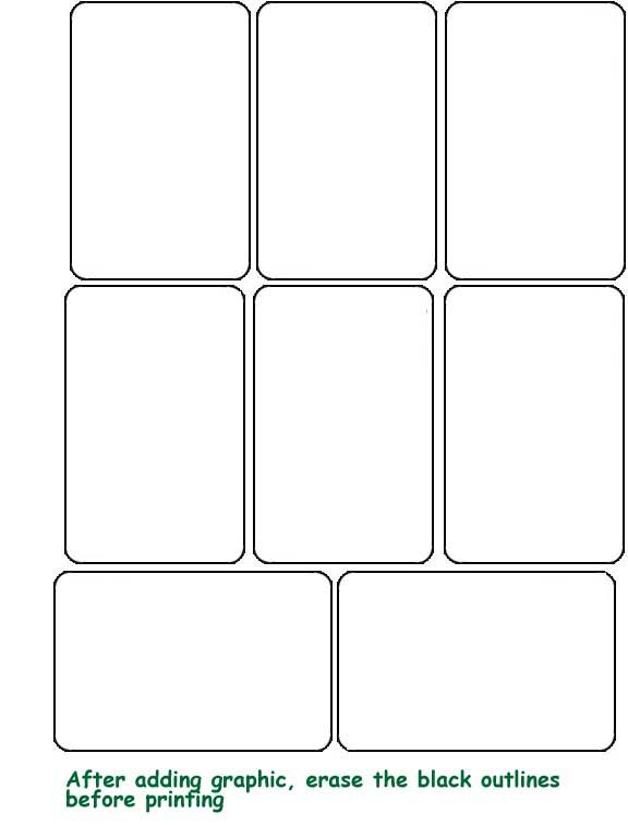 Plain Blank Cards Printable Hobby Playing Cards for Inkjet or