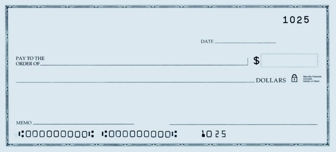 Printable Personal Blank Check Template Check Blank Check Blank