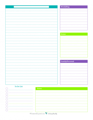 Daily Planner Printables Personal Planner