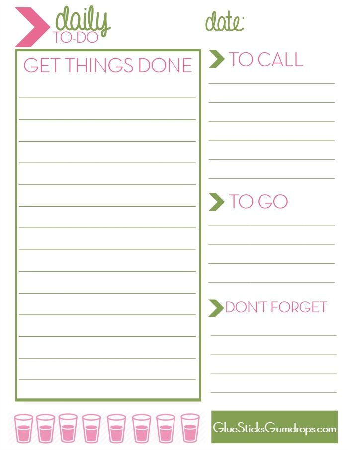 Free Printable Daily To Do List | mine | Pinterest | Free