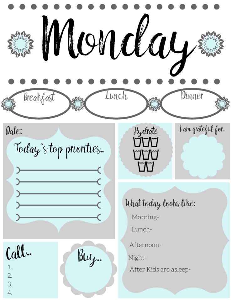 Free printable daily to do list   Simply Happy Mama