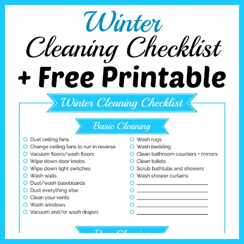 Winter Cleaning Checklist + Free Printable  A Cultivated Nest