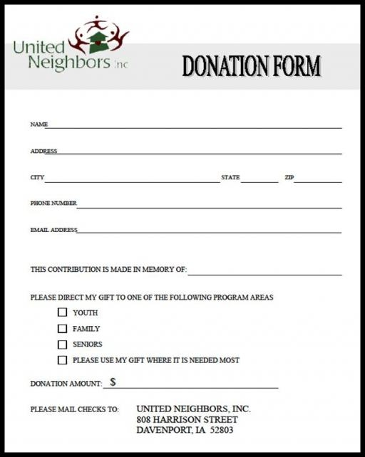 Donation Form Template   8+Free Word, PDF Documents Download