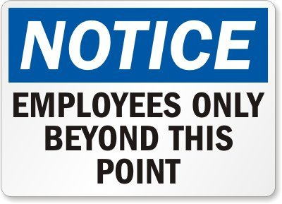 Printable Employees Only Sign Red Get Free Download Now | Free