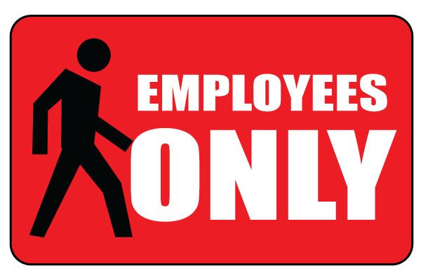 Free Printable Employees Only Temporary Sign