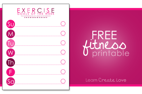 Exercise Printable | LearnCreateLove