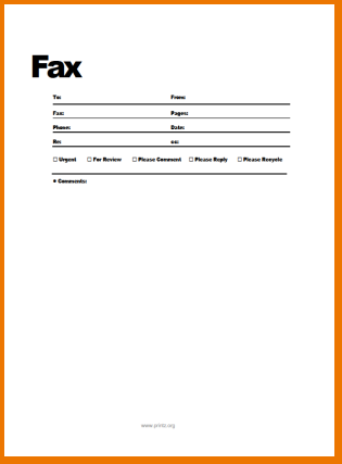 Free Fax Cover Sheet Template Printable