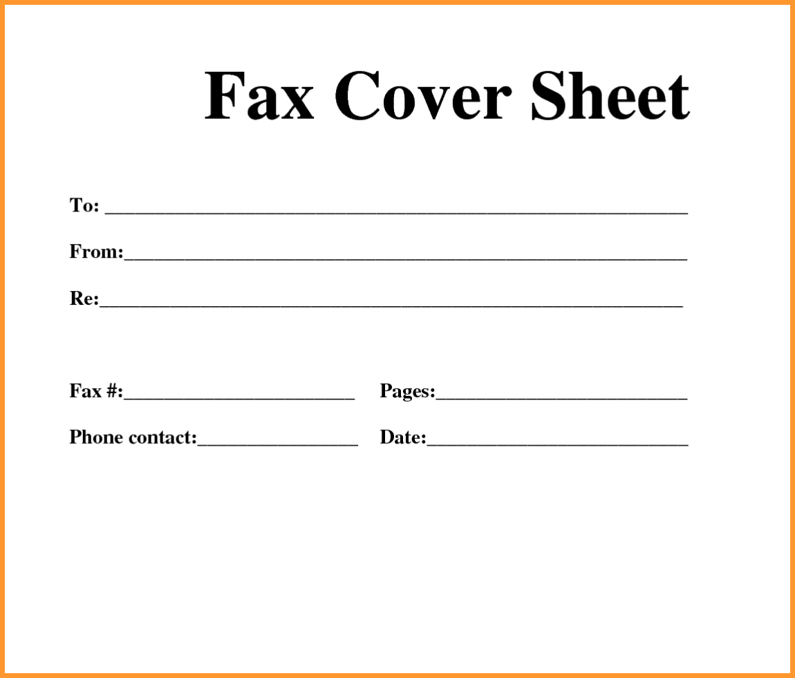 Printable Fax Cover Sheet PDF   Blank Template Sample