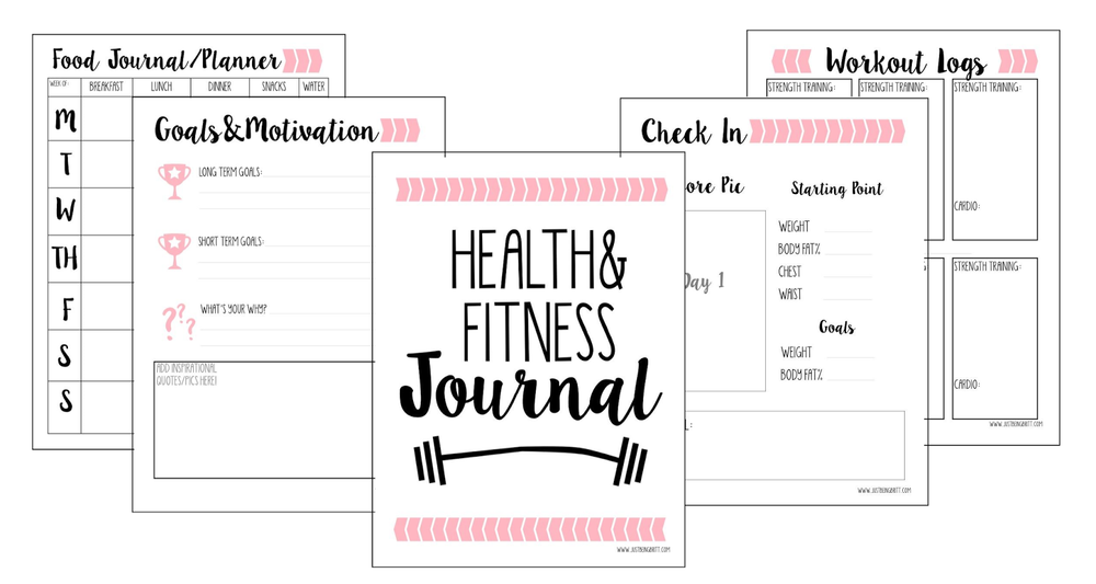 Gift of Planning  FREE Fitness Journal Printable — Just Being Britt