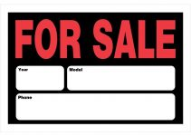 printable for sale sign for car the hillman group stock signs 839932 64 1000