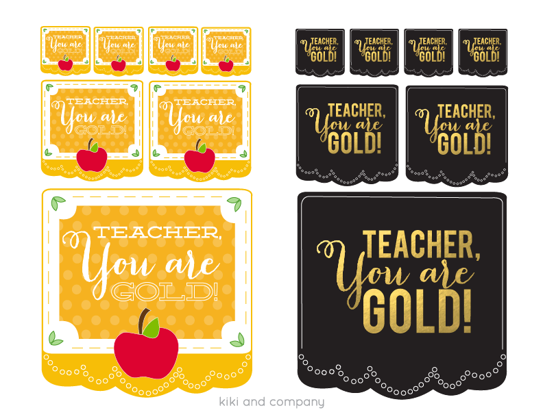 Teacher, You are GOLD! {Free printable for Teacher Appreciation