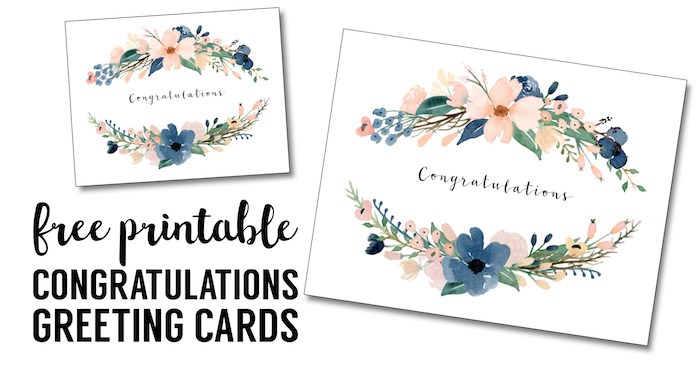 Congratulations Card Printable {free printable greeting cards