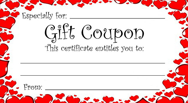 Free Printable Hearts Gift Coupons