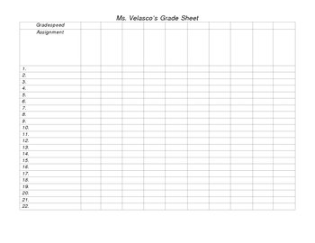 image regarding Free Printable Grade Sheets named Printable Grading Sheets house