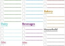 printable grocery list by category printable grocery list1